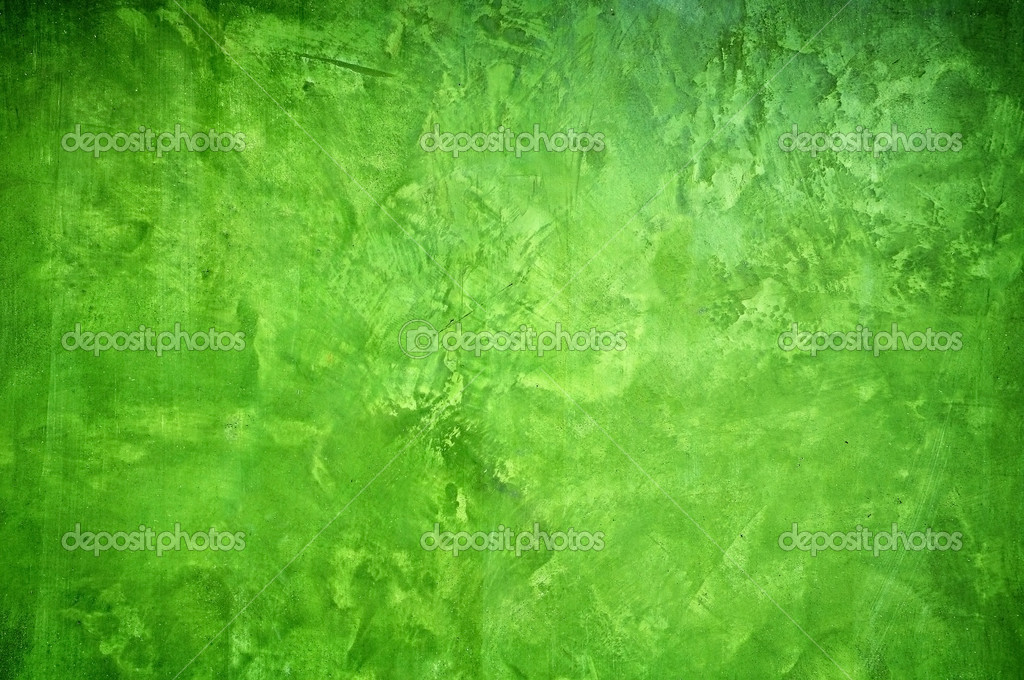 Green Color Painting Wall Background Stock Photo