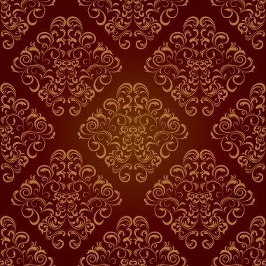 Seamless floral brown pattern