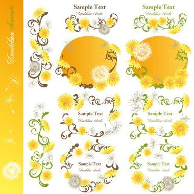 Dandelion design elements