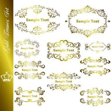 Gold frames set