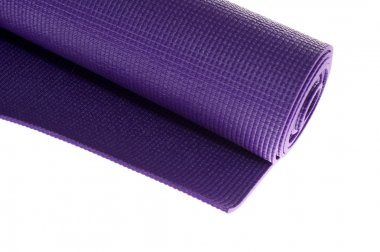 Angled rolled exercise mat