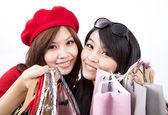 Fotografie asiatische shopping Mädchen isoliert