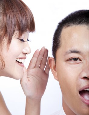 The gossip between man and woman