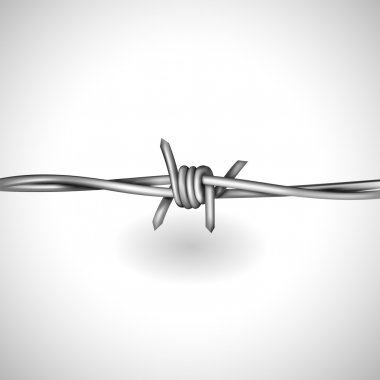 Realistic barbed wire background