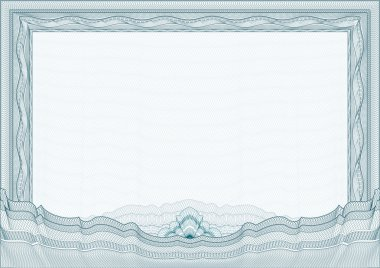 Classic guilloche border for diploma or certificate with protect