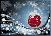 Weihnachten  Neujahrsgrußkarte, Vektor