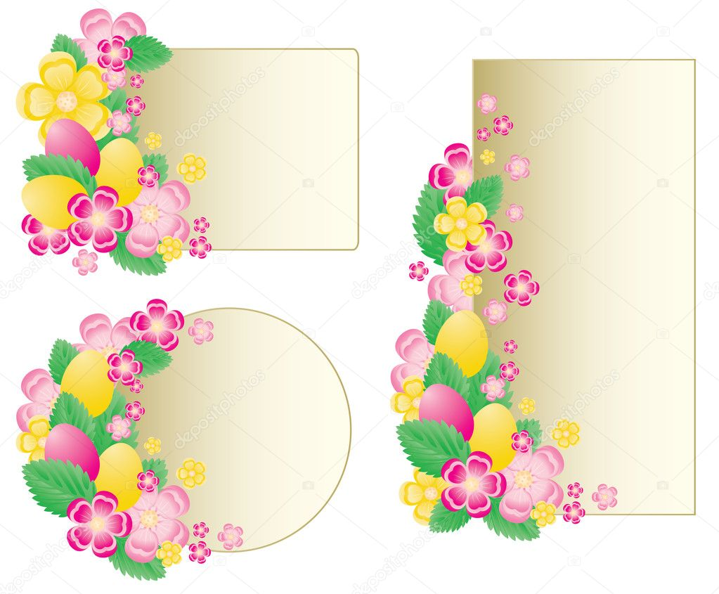 Set easter banners, vector illustration