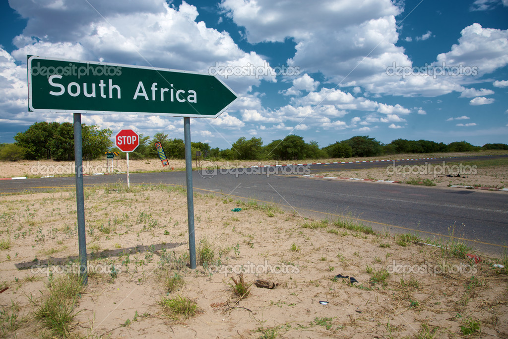 South Africa sign road