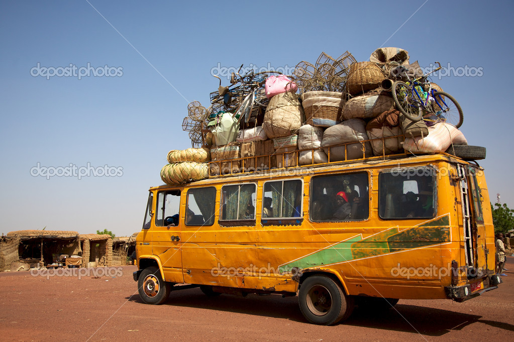 Loaded African min van