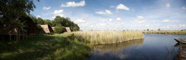 Panorama of lodge facing the river