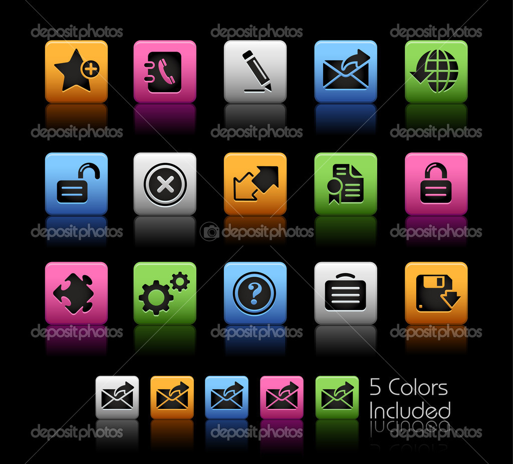 Web 20 icons colorbox series stock vector palsur 5054426 the eps file includes 5 color versions for each icon in different layers vector by palsur sciox Choice Image