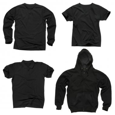 Blank black clothing