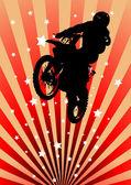 Fotografia moto cross rider, con spruzzi