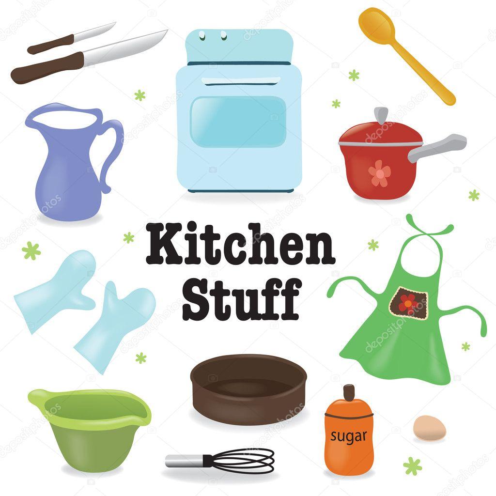 Kitchen stuff — Stock Vector © wetnose #4908242