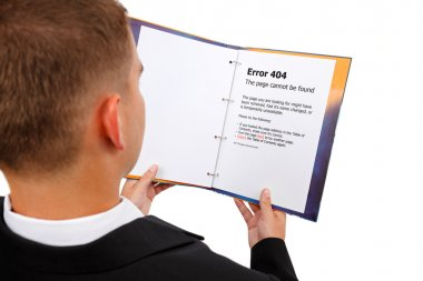 Looking at 404 error page in book