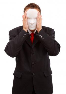 Man behind mask