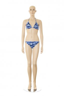 Female mannequin in bikini   Isolated