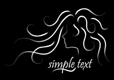 Black & white hair logo