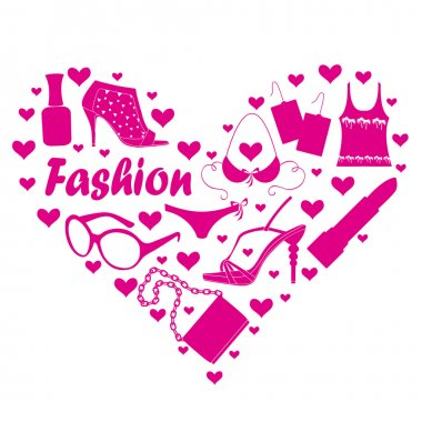 Fashion accessories and clothes clip art vector