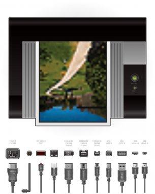 LaserJet Printer + Cables & Ports