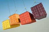 Négy hajózási konténerek