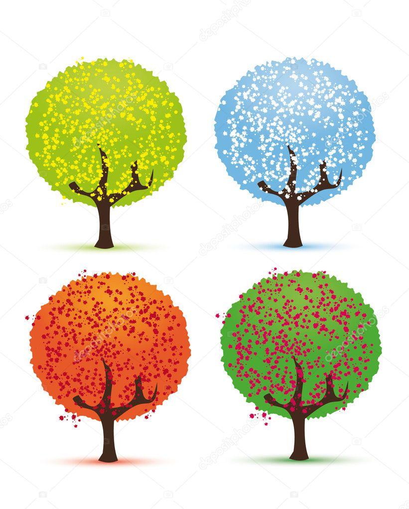 Four seasons - spring, summer, autumn, winter. — Stock ...