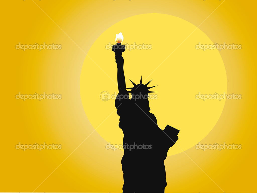 statue of liberty stock vector stain v 4336138