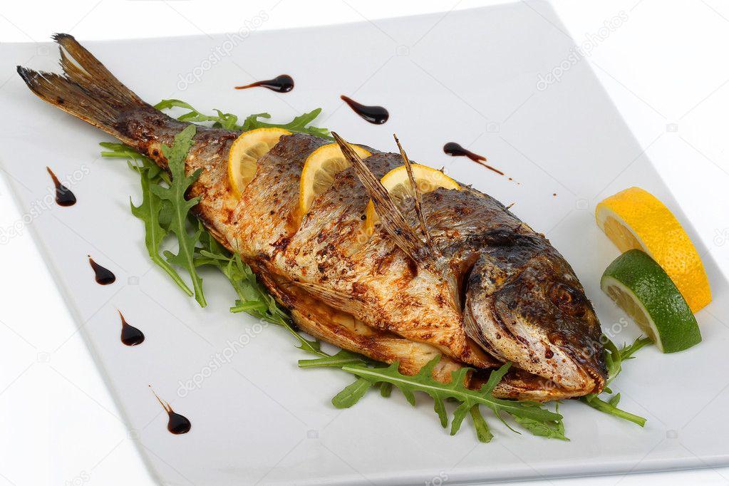 Fried fish — Stock Photo © ALesik #5217005