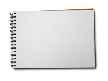 Blank one face white paper notebook horizontal stock vector