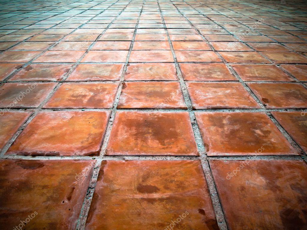 Prospettiva di piastrelle quadrato rossi foto stock - Piastrelle in stock ...