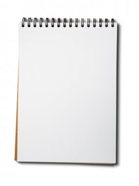 Blank one face white paper notebook vertical stock vector
