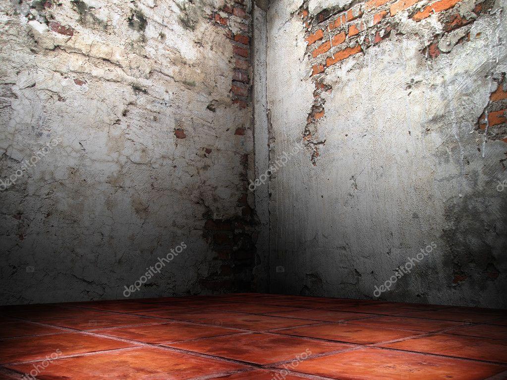 Cracks of the brick walls corner