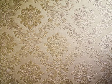 Brown tone Damask style wallpaper