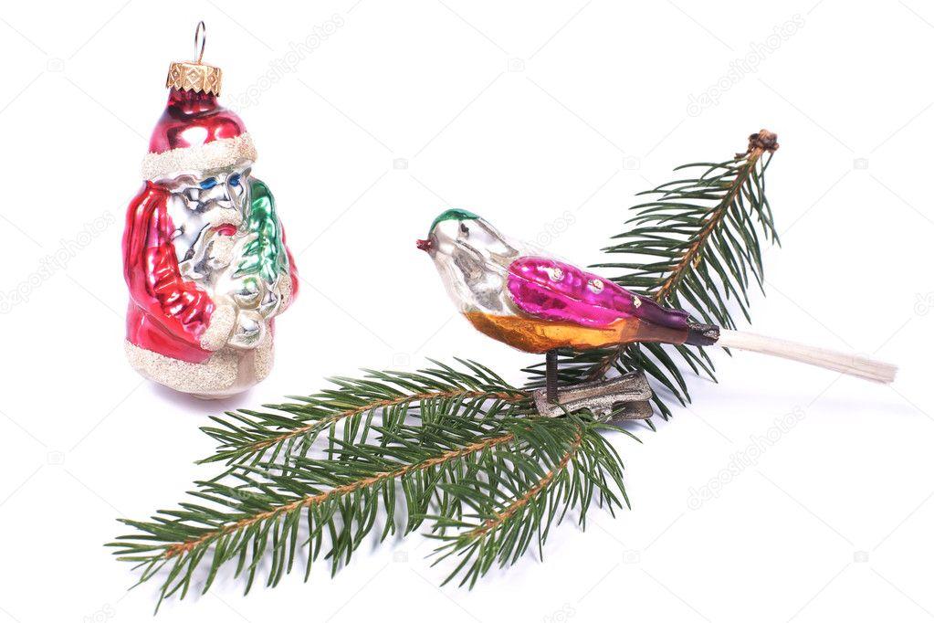 Foto Di Natale Anni 60.Bagattella Dell Albero Di Natale Degli Anni 60 Uccello E Babbo