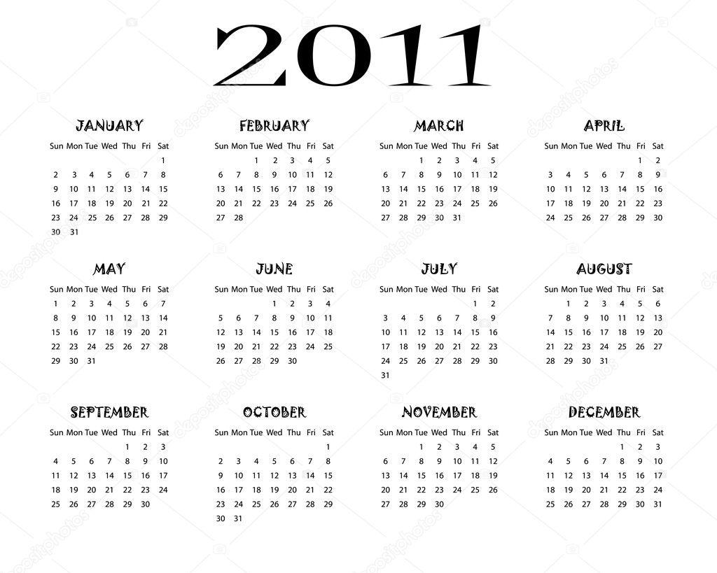 2011 Calendario.Calendario 2011 Vetores De Stock C Elaplan 3993471