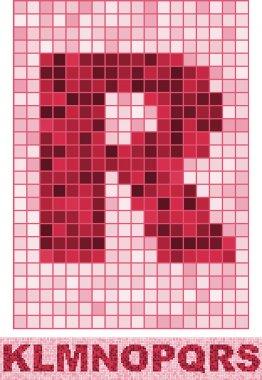 Vectr mosaic font
