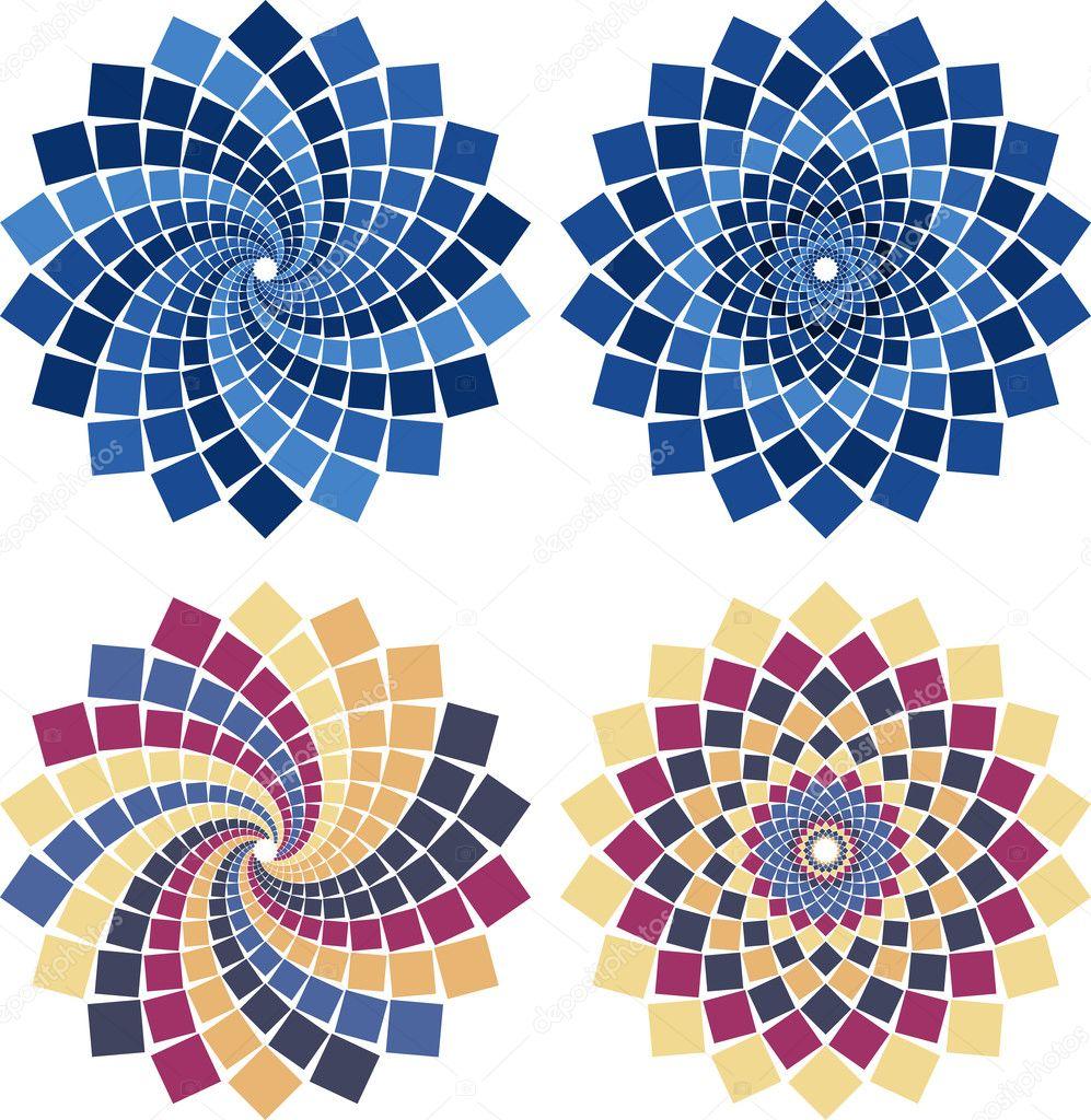 Flor de mosaico vector vector de stock bambuh 4806295 - Mosaico de colores ...