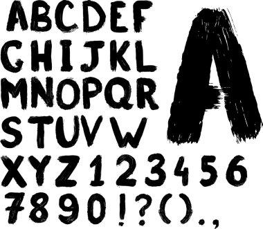 Grunge hand-written typeset