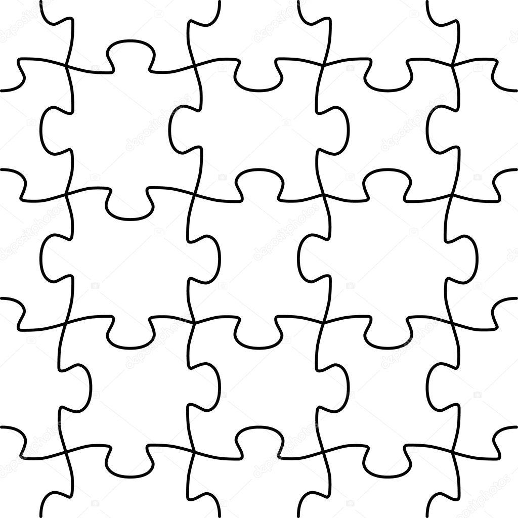 Seamless vector puzzle shape — Stock Vector © bambuh #5020569