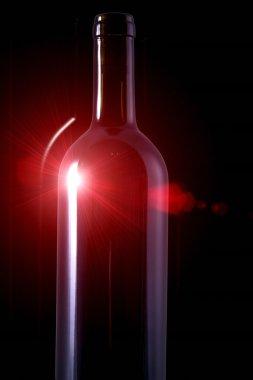 Wine red bottle