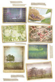 Fotografie Collection of seasonal photos in vintage frames