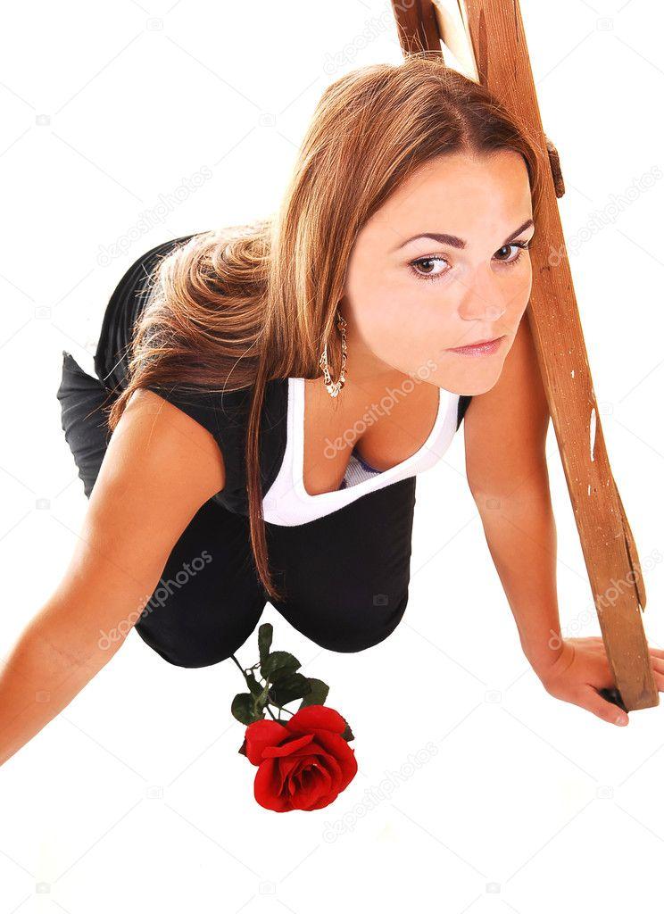 hübsches Mädchen in Rosa kurzes Kleid — Stockfoto © sucher #4686204