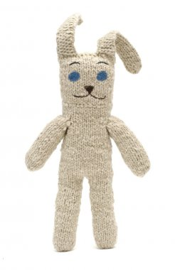 Knitted toy rabbit