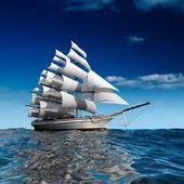 vitorlás hajó tengeren