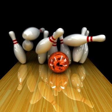 Orange ball does strike!