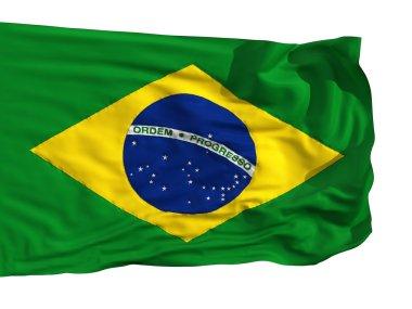 Flag of Brazil, fluttered in the wind