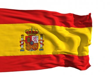 Flag of Spain, fluttering in the wind