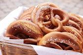 Basket of pretzels
