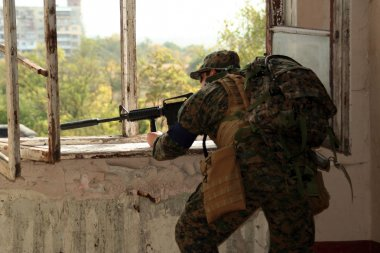 The military man fired from a window