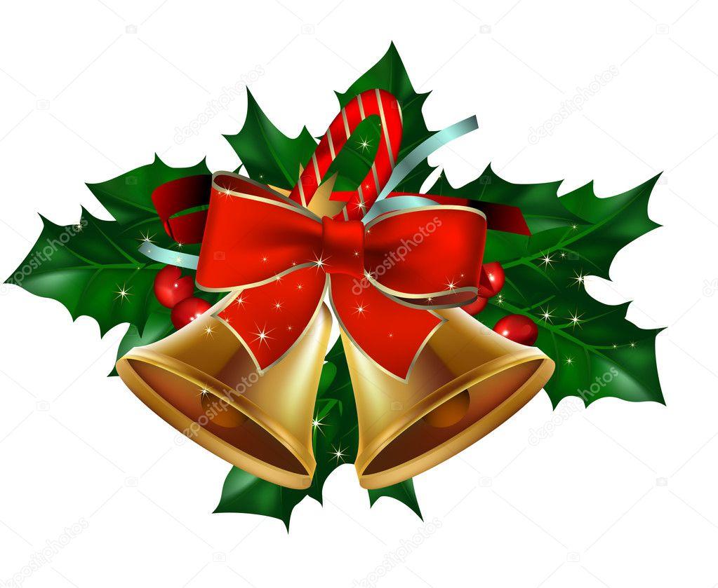 weihnachten glocken mit stechpalme stockvektor 4485379. Black Bedroom Furniture Sets. Home Design Ideas